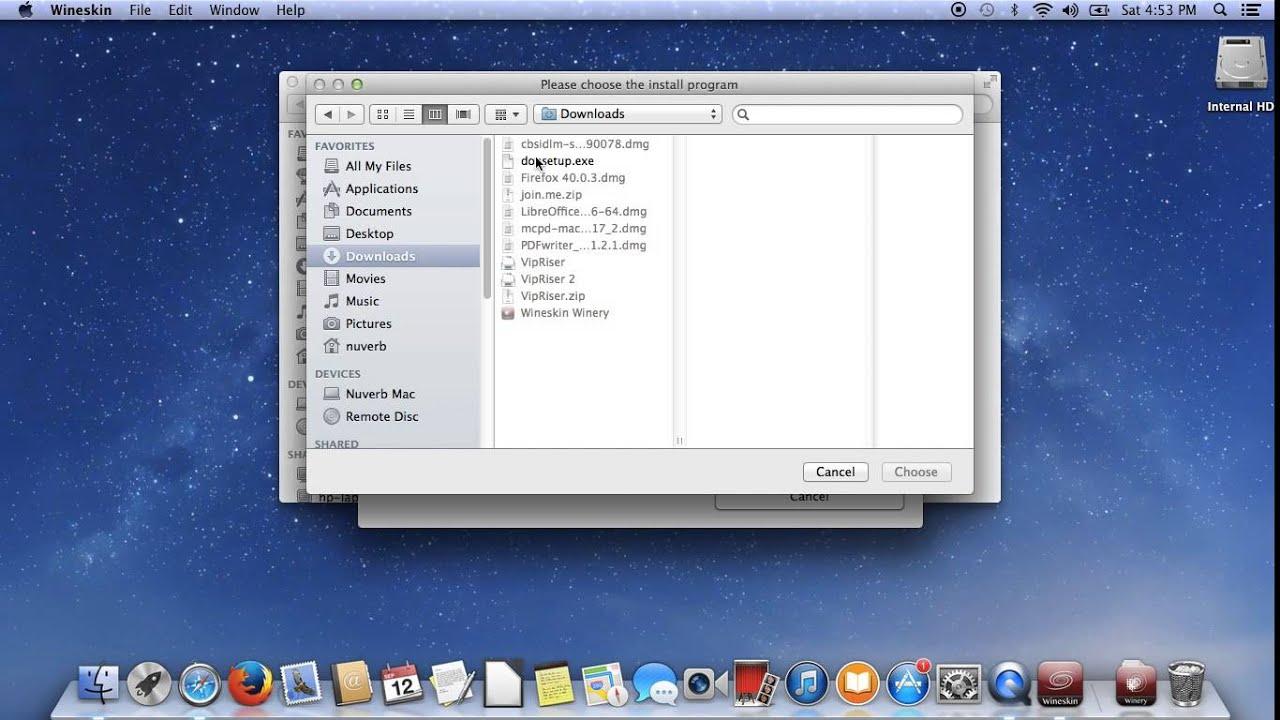 Installing Donarius on a Mac using Wineskin