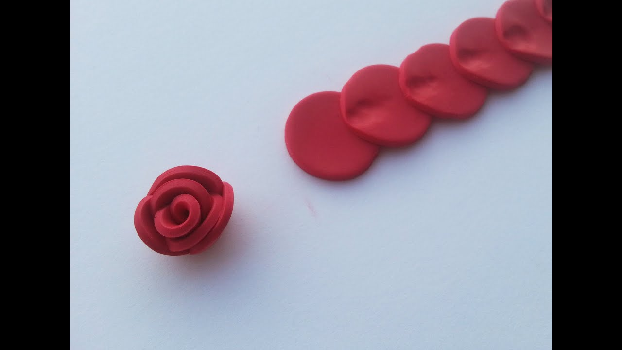 spesso TUTORIAL: TECNICA ALTERNATIVA per fare ROSE in FIMO/ PASTA  YI73