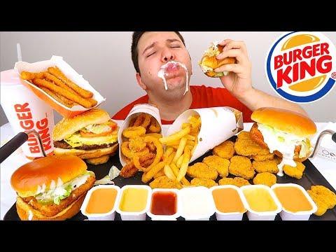 Massive Burger King Feast • MUKBANG