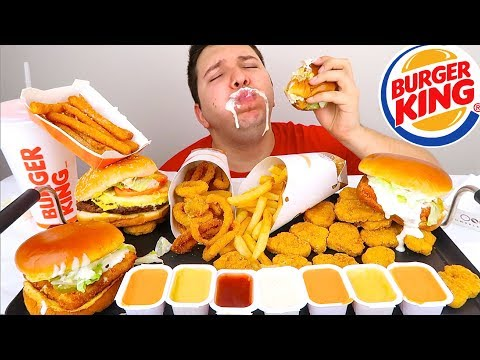 Massive Burger King Feast • MUKBANG