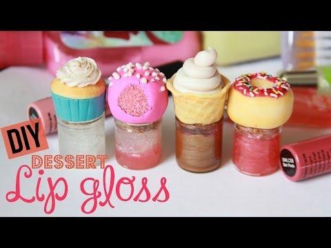 DIY Dessert Lip Gloss - How To Make Sweet Lip Gloss Jars & Bottles - Polymer Clay
