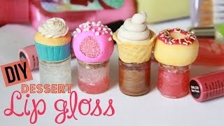DIY Dessert Lip Gloss - How To Make Sweet Lip Gloss Jars & Bottles - Polymer Clay