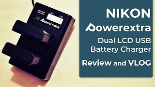 348 Powerextra - Dual LCD USB Battery Charger for Nikon EN-EL14 Nikon EN-EL14a - Review - VLOG