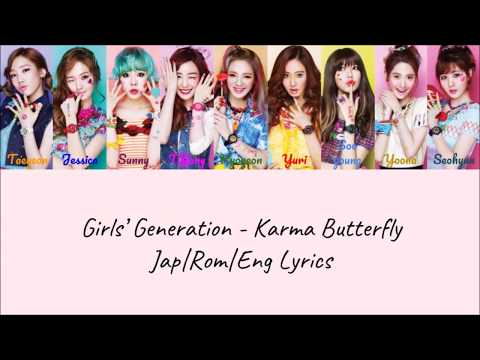 Girls' Generation - Karma Butterfly (Color Coded Jap|Rom|Eng Lyrics) | by Bacon Biased