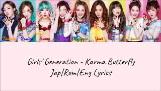 Gambar cover Girls' Generation - Karma Butterfly (Color Coded Jap|Rom|Eng Lyrics) | by Bacon Biased