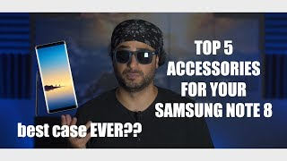 TOP 5 Accessories For The Samsung Note 8 (Best Case EVER!)