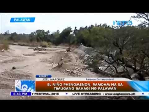 Palawan, ramdam na ang El Niño phenomenon