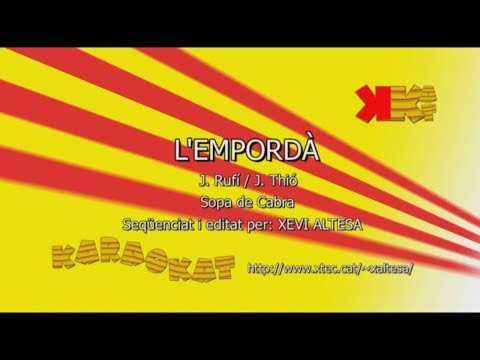 L'Empordà - SOPA DE CABRA - Karaoke en català - KARAOKAT