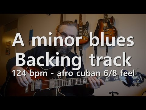 Minor blues in A 124 BPM - Afro Cuban