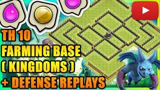 Clash Of Clans - Town Hall 10 (TH10) Farming Base/Hybrid Base 2018 + Defense Replays|ANTI EVERYTHING
