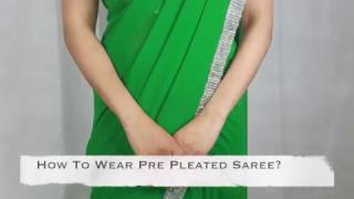 Pre Pleated Saree - How To Wear Our Pre Pleated Saree