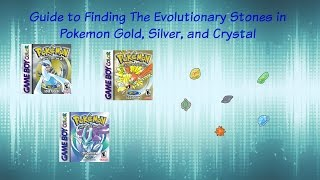 Pokemon Gold/Silver/Crystal Thunderstone, Water Stone, Fire Stone, Leaf Stone, Sun Stone, Moon Stone