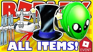 [EVENT] How To Get ALL ITEMS in Roblox Universe Event 2018 - Alien Bag, Hat of the Void, Satell-Hat