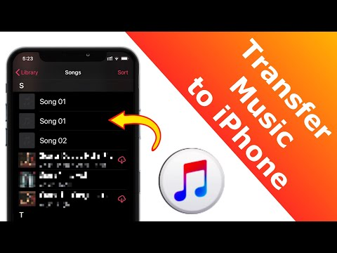 Easily transfer music from your iTunes library to your iPhone or iPad devise. #HowToTransferMusic #i.