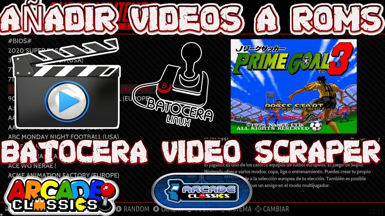 Batocera Linux 5 22 Scrapear Videos en Roms attrac Mode Tutorial