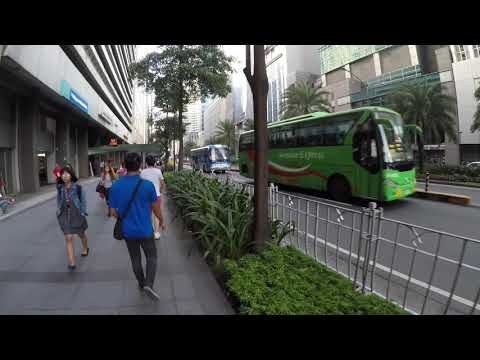 WALKING TOUR OF DOWNTOWN MAKATI, METRO MANILA PHILIPPINES