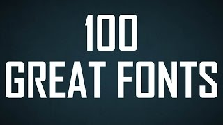 100 Great Fonts