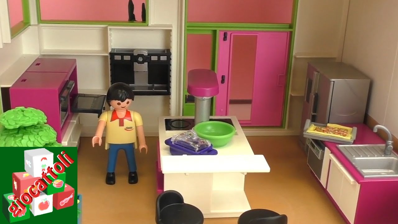 Playmobil villa di lusso con piscina cucina bagno - Camera per bambina ...