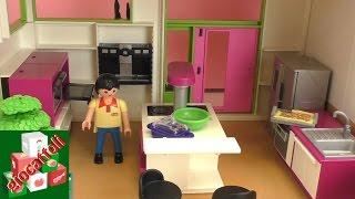 Playmobil villa di lusso - con piscina, cucina, bagno, camera per bambini, soggiorno