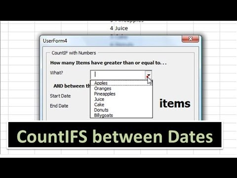 CountIFS with Dates - Excel VBA - YouTube
