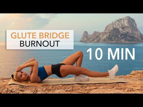 10 MIN GLUTE BRIDGE BURNOUT - Floor Workout, set your booty on fire I Pamela Reif