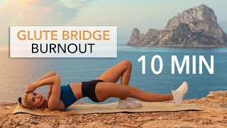 10 MIN GLUTE BRIDGE BURNOUT - Floor Workout, set your booty on fire I Pamela Reif Thumb