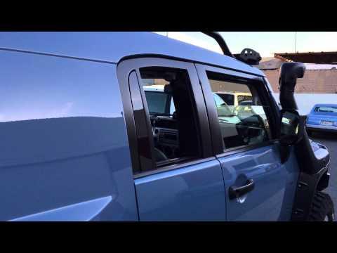 Toyota FJ Cruiser Custom Power Windows for Rear Access Doors