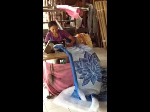 Woman Treadling in Bali