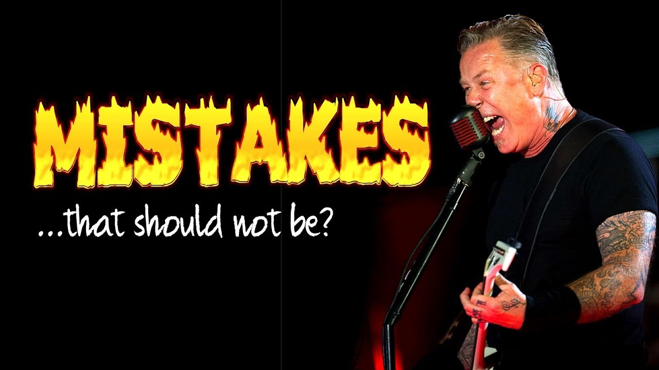 5 Mistakes In Metallica Songs That You Never Noticed