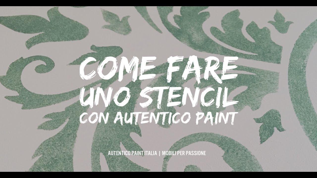 Come fare uno stencil con autentico chalk paint youtube - Stencil adesivi per mobili ...