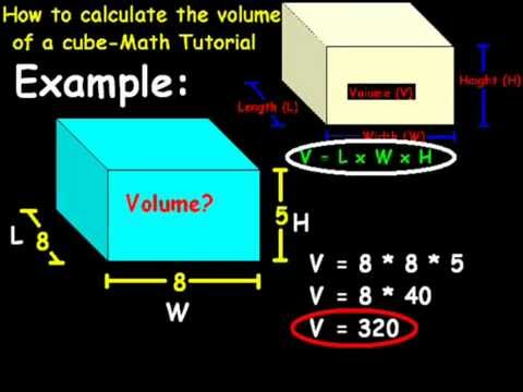 How To Calculate The Volume Of A Cube Math Tutorial Youtube