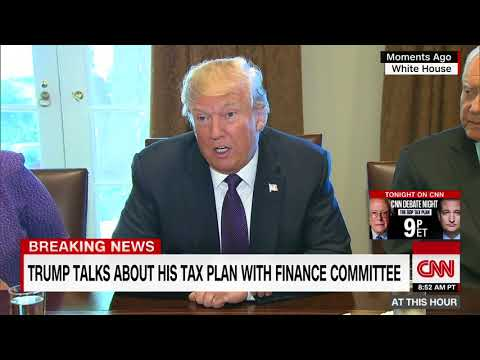 Trump meets with senators on tax reform (full)