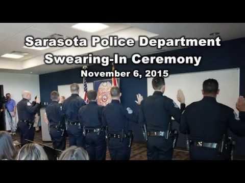 Sarasota Police Swearing In Ceremony - November 6, 2015