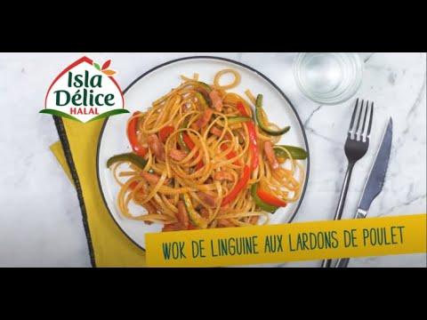 idée-recette-isla-délice-:-wok-de-linguine-aux-lardons-de-poulet-fumés-:-dans-10-minutes-à-table