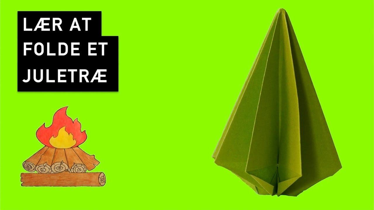 Juletræ - Origami