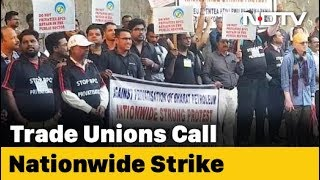 In Mumbai, Bharat Petroleum Employees Join Nationwide Strike By Trade Unions