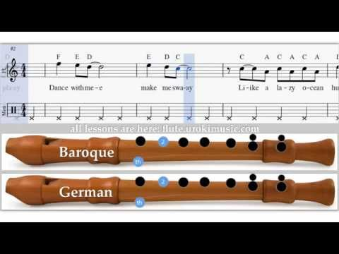 Sway - How To Play Recorder Flute Sample Key - Sheet Music Fingering German Baroque