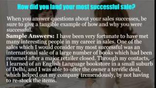 Sales analyst interview questions