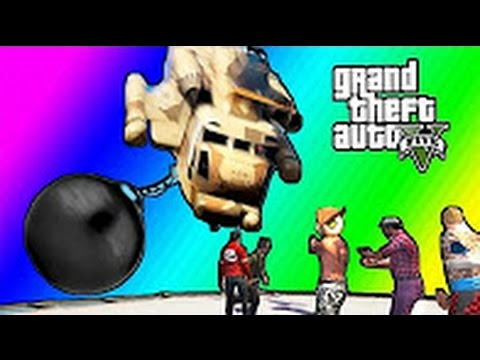 VanossGaming: GTA 5 Online Funny Moments - Floating RPG & Pinball Company!