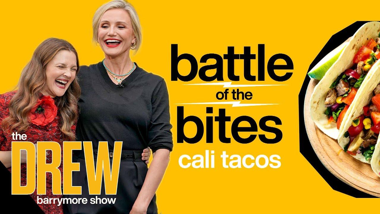Cameron Diaz and Ross Mathews Help Drew Crown LA's Top Taco Champ | Battle of the Bites