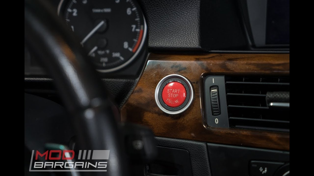 bmw e90/e92/e93 red start stop button install (all e-chassis bmw)