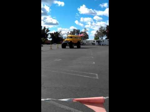 5/8/11 - Jordan rides school bus monster truck