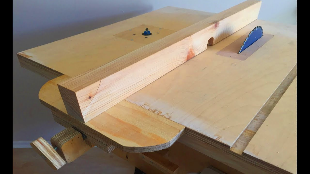 Making a homemade table saw fence router table fence tezgah testere paralellik mesnedi Table saw fence