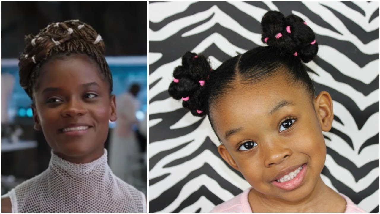 Black Panther Inspired Hairstyle for Little Girls - YouTube