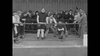 Charlie Chaplin The Chapoin Of 1915 Final Match-So Funny Boxing