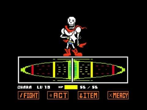 UNDERTALE Papyrus Fight Genocide (Colored Sprite Mod)
