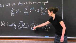 Summation Notation Practice | MIT 18.01SC Single Variable Calculus, Fall 2010