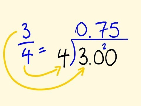 Convert any Fraction to a Decimal - easy math lesson