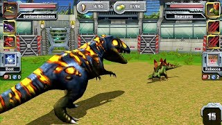 Jurassic Park Builder JURASSIC Tournament Android Gameplay - Max Level Carcharodontosaurus