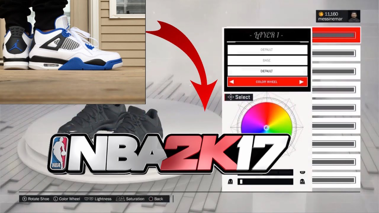 8df026e2e6fd3a How to make Jordan Motorsport 4s in NBA 2k17 - YouTube
